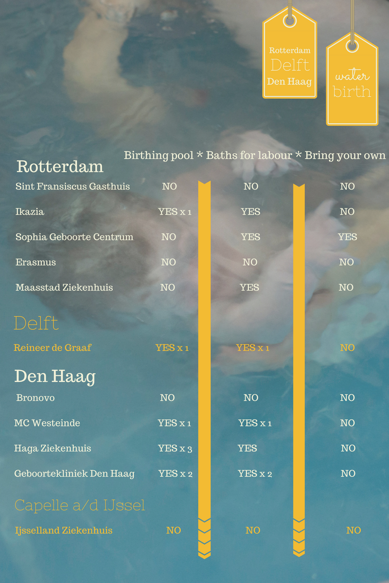 waterbirth options infographic