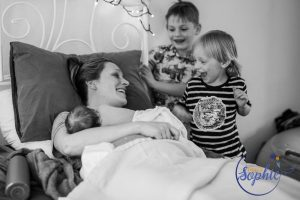 Home birth with siblings