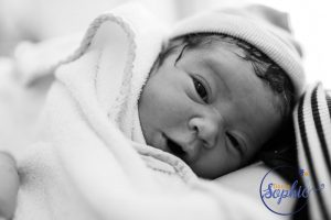 Newborn bright eyes