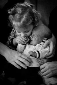 Siblings newborn lifestyle shoot
