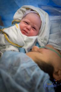 Cesarean baby