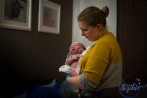Midwife & newborn